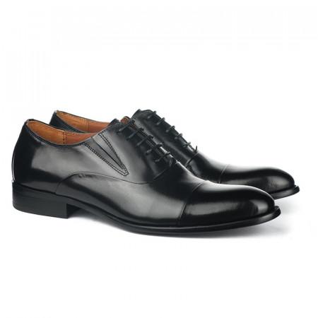 Slika Kožne muške cipele A076-Y01 crne