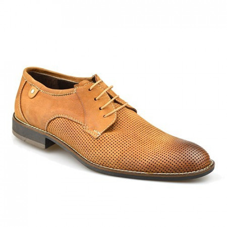 Slika Kožne muške cipele P15628 kamel