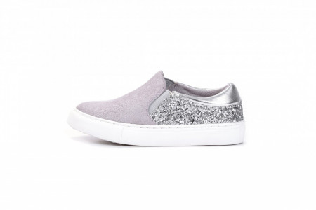 Slika Espadrile / patike za devojčice B251901 sivo/srebrne