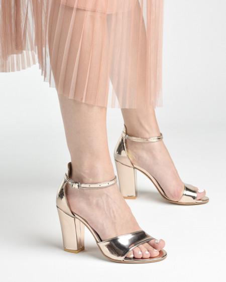Slika Sandale na štiklu 27 roze zlato