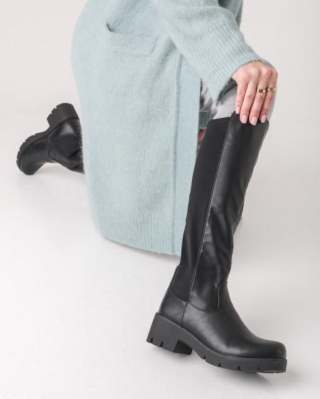 Ženske duboke čizme ESL2016 crne