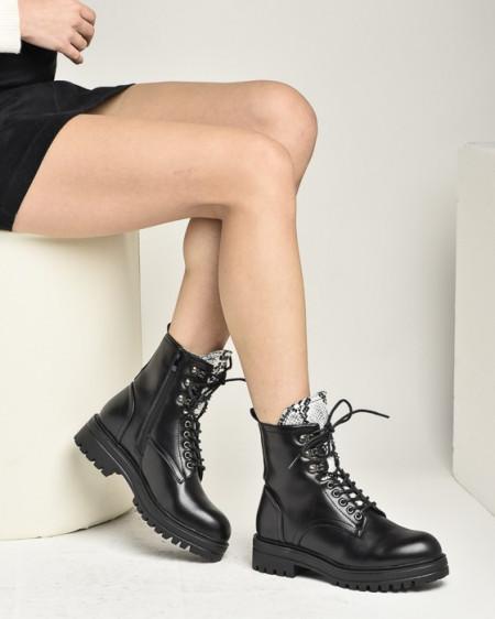 Slika Ženske poluduboke čizme LH021945 crne