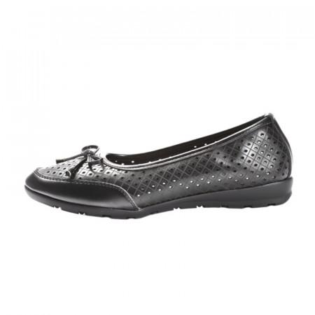 Slika Kožne baletanke/cipele L13A823 crne