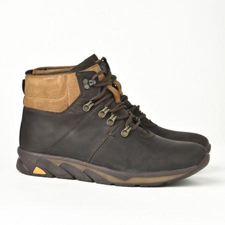 Slika Kožne muške cipele/patike 321 braon