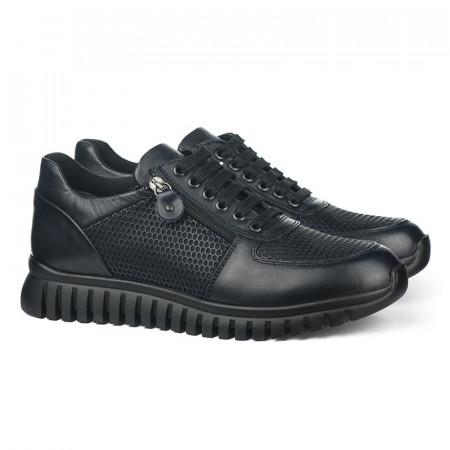 Slika Kožne muške patike / cipele 6401 crne