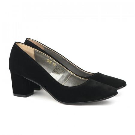 Slika Cipele sa kožnom postavom 17-968 crne