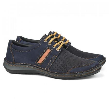 Slika Kožne muške cipele 9559 teget