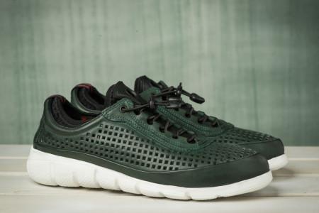 Slika Kožne muške cipele / patike N40001 tamno zelene