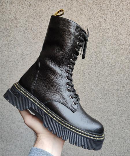 Slika Kožne poluduboke čizme Y3368/R071 crne