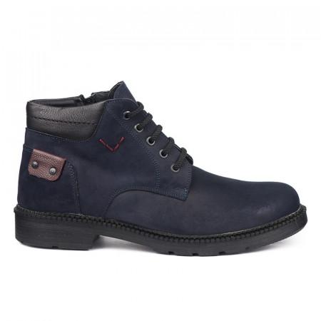 Poluduboke kožne muške cipele Vega teget