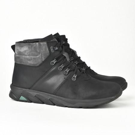 Slika Kožne muške cipele/patike 321 crne