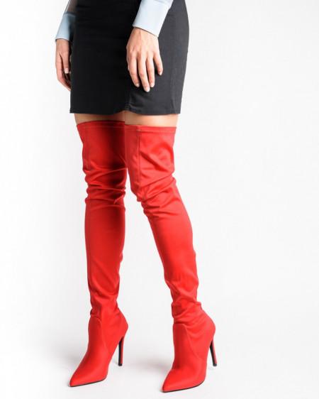 Slika Streč čizme preko kolena LX86260 crvene