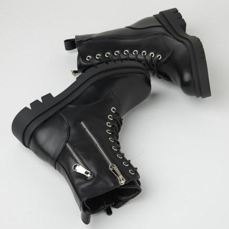 Ženske poluduboke čizme CA633 crne