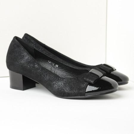 Slika Cipele na malu štiklu C2113 crne