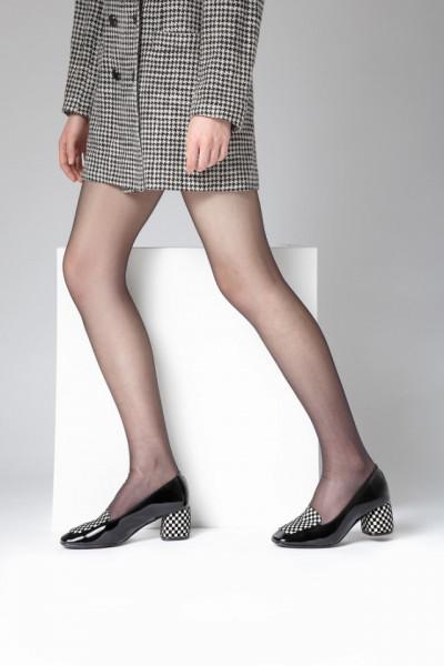 Slika Cipele sa kožnom postavom N-131/1 crne