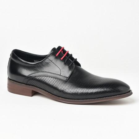 Slika Kožne muške cipele P6504 crne