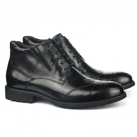 Slika Kožne poluduboke cipele za muškarce HL-H1067F-2-M110 crne