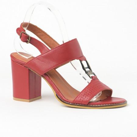 Slika Kožne sandale na štiklu 2027 crvene