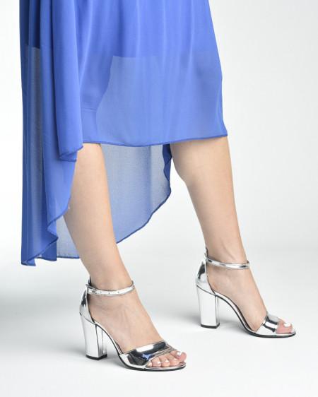 Slika Sandale na štiklu 27 srebrne