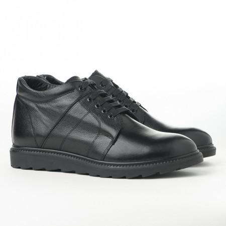 Slika Tople kožne muške cipele P30652 crne