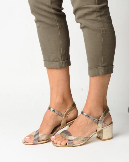 Slika Ženske sandale S21504 zlatno/srebrne