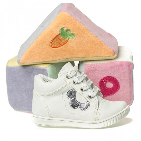 Slika Kožne dečije cipele sa anatomskim uloškom 550 bele