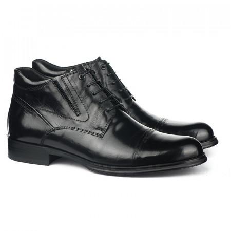 Slika Kožne poluduboke cipele za muškarce HL-H1022D-16-M110-4R crne