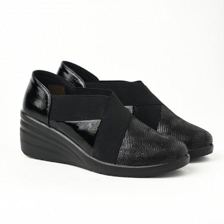 Slika Ženske cipele na pertlanje L081932 crne