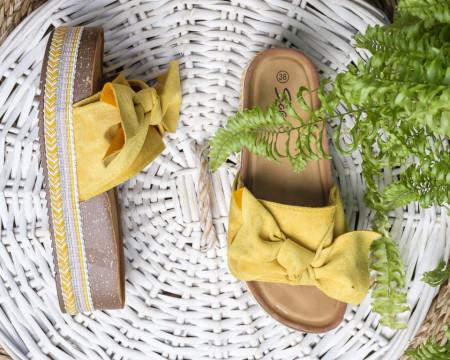 Slika Ženske papuče na debelom đonu LP781903 žute