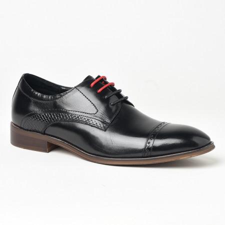 Slika Kožne muške cipele P6503 crne