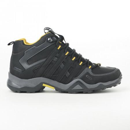 Slika Zimske duboke cipele / patike 3014 crne sa žutim detaljima (brojevi od 36 do 44)