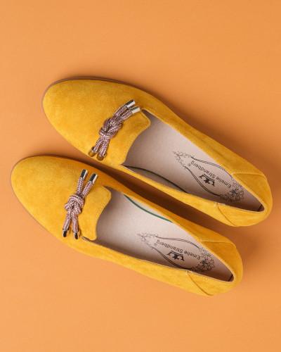 Cipele na malu petu C2118 žute