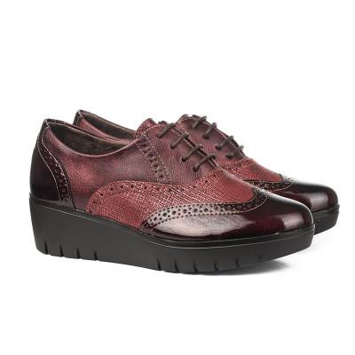 Cipele na pertlanje C1737 bordo