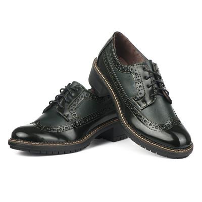 Cipele na pertlanje C1738 zelene