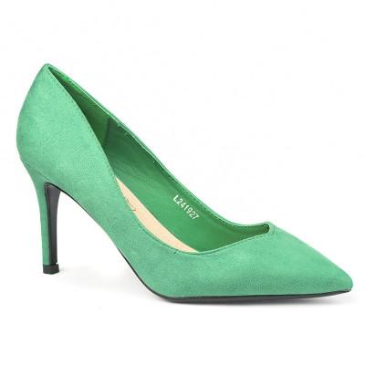 Cipele na štiklu L241927 zelene
