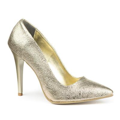 Cipele na štiklu sa šljokicama 5010 zlatne