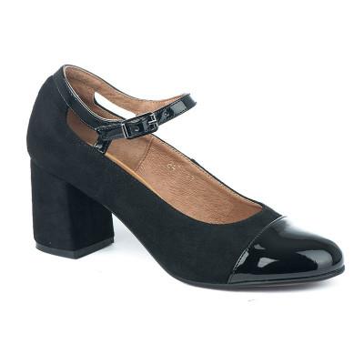 Cipele sa kožnom postavom 12-845 crne