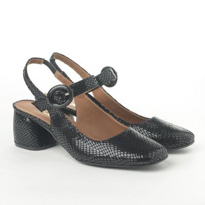 Cipele sandale sa kožnom postavom N-132 crne