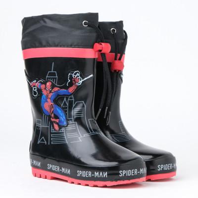 Dečije gumene postavljene čizme RJ20-26-28 spider-man crne