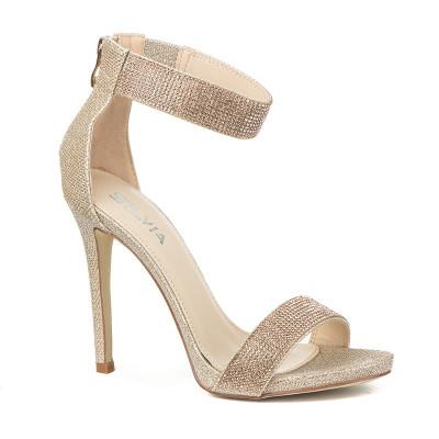 Elegantne sandale na štiklu S8310 bež