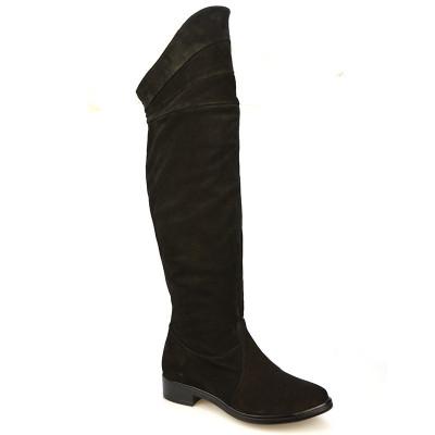Kožne čizme preko kolena  3138 crne