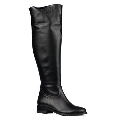 Kožne čizme preko kolena 4060 crne