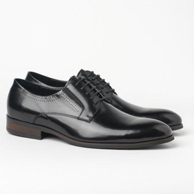 Kožne muške cipele BY130-11 crne