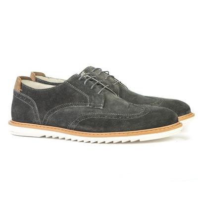 Kožne muške cipele C9604 sive