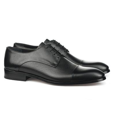 Kožne muške cipele sa kožnim đonom 1727 crne