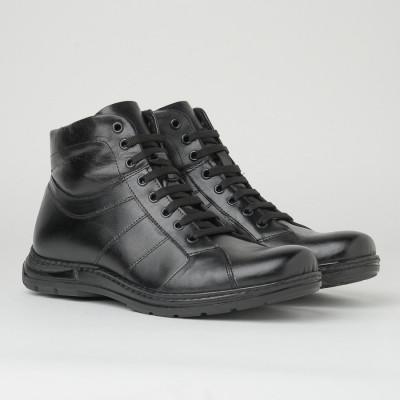 Kožne muške duboke cipele 913-01 crne