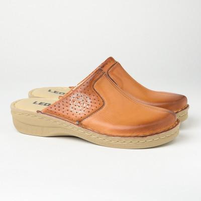 Kožne papuče/klompe 360 kamel