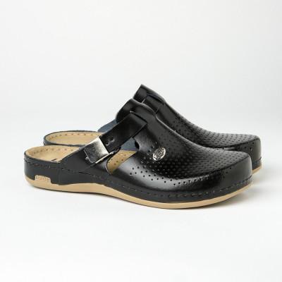 Kožne papuče/klompe 950 crne