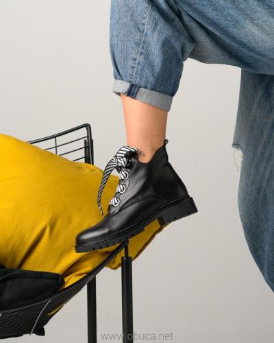 Kožne poluduboke cipele A2754/7000 crne