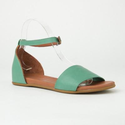 Kožne ravne sandale 2035 zelene